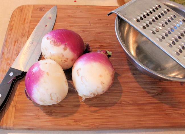 Purple Top turnips for kraut
