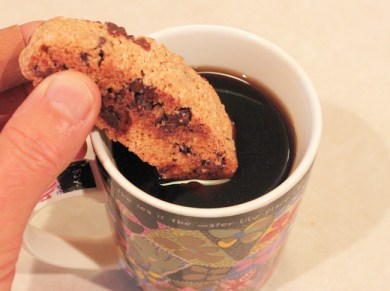 biscotti going for a dunking