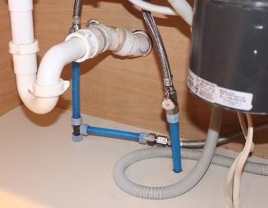 new water supply under kitchen sink
