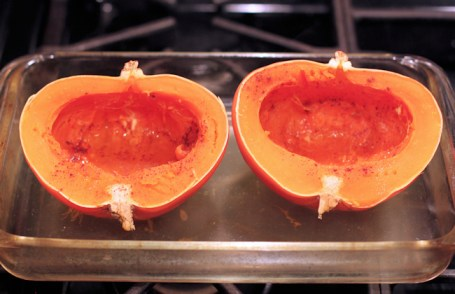 baked Gold Nugget squash
