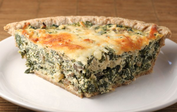 Spinach Pie made from frozen spinach