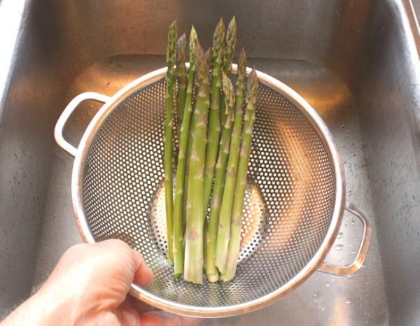 last asparagus harvest of the year