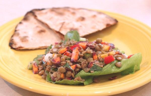 lentil salad with Purple Haze carrots