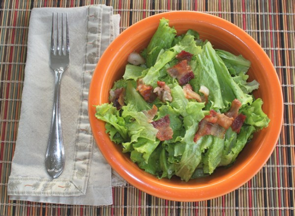 Wilted Lettuce Salad with Slobolt lettuce