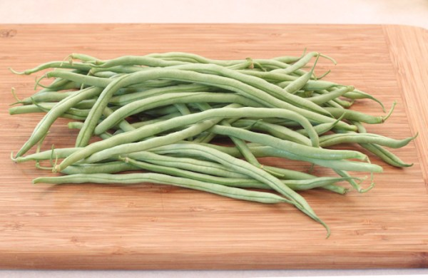harvest of Fortex beans