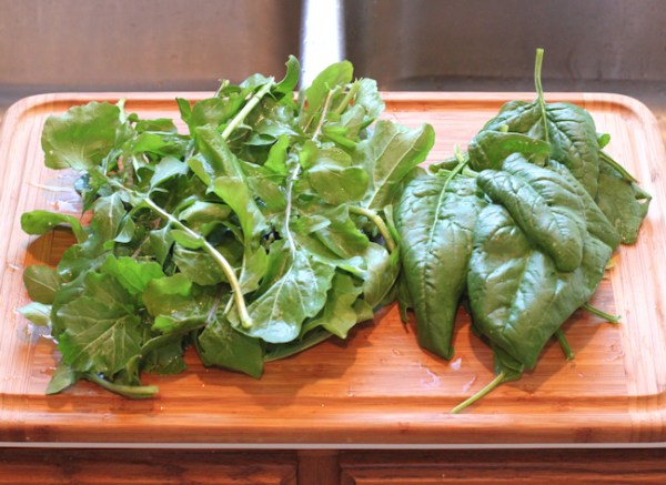 arugula and spinach for pizza