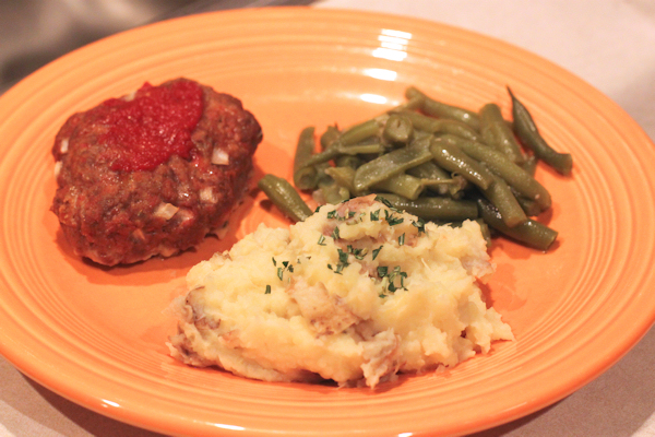 meal with Garlicky Mashed Potatoes