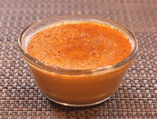 Maple Pumpkin Custard made with Thai squash
