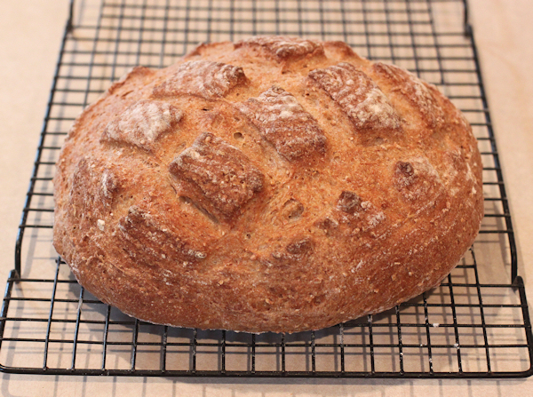 Cracked Wheat hearth bread