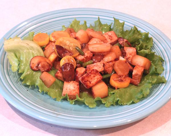 stir fry with kohlrabi and other veggies