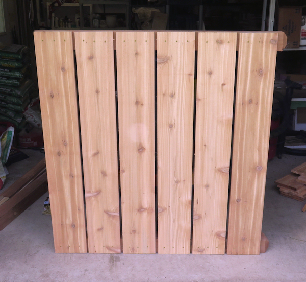 side panel for composter (sitting sideways)