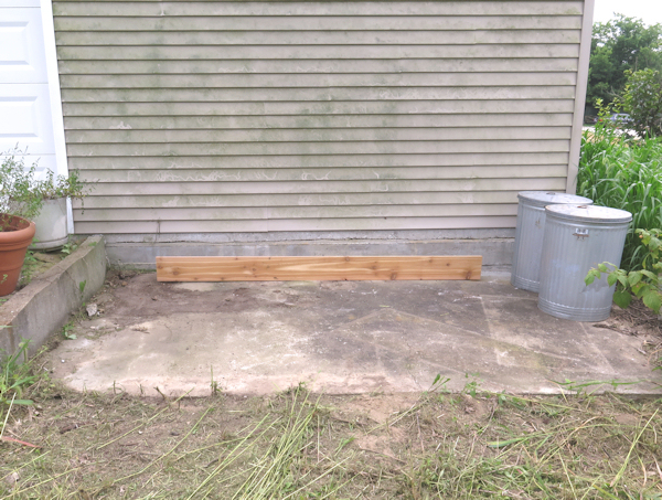 site for new compost bins
