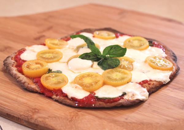Golden Rave tomato on pizza