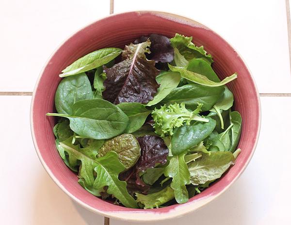 Christmas Day salad greens
