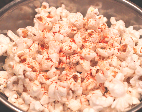smoked paprika on popcorn