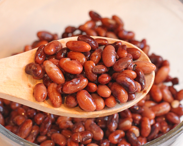 cooked Rattlesnake beans