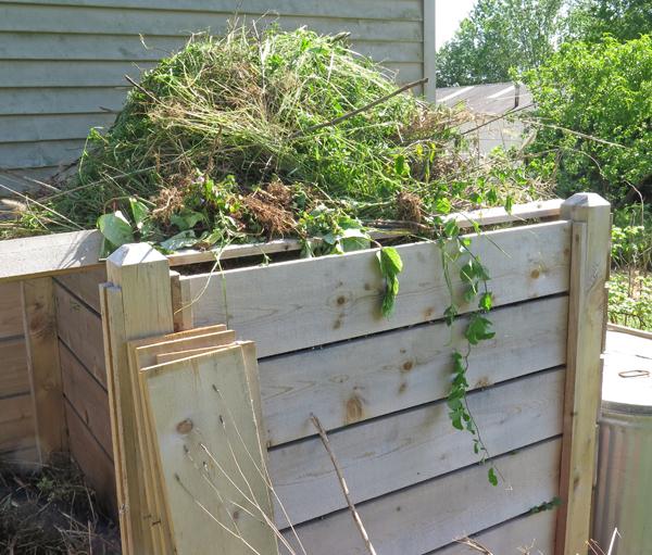 compost bin full of organic material