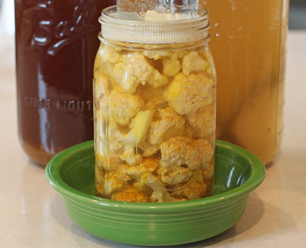Curried Cauliflower Pickles