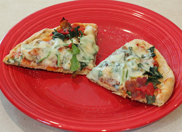 pizza with whole wheat crust