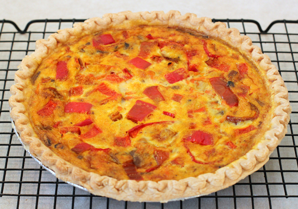 Vegetable Pepper Quiche