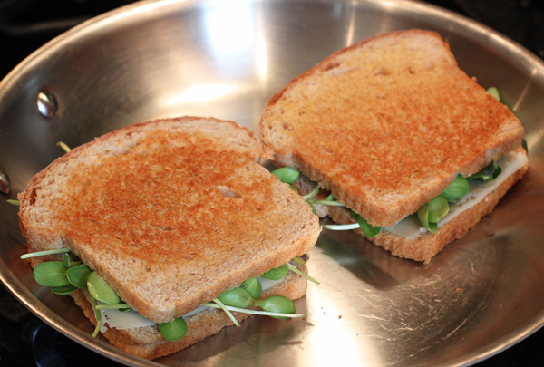 sprout & cheese sandwich