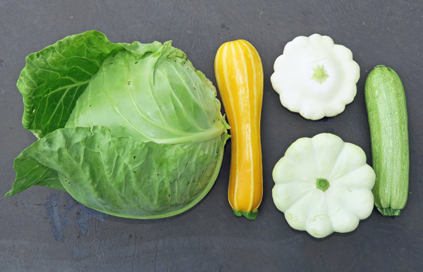 cabbage and summer squash