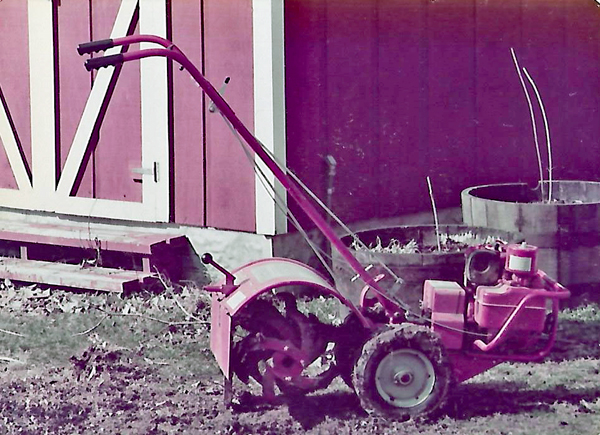 my first tiller in 1983