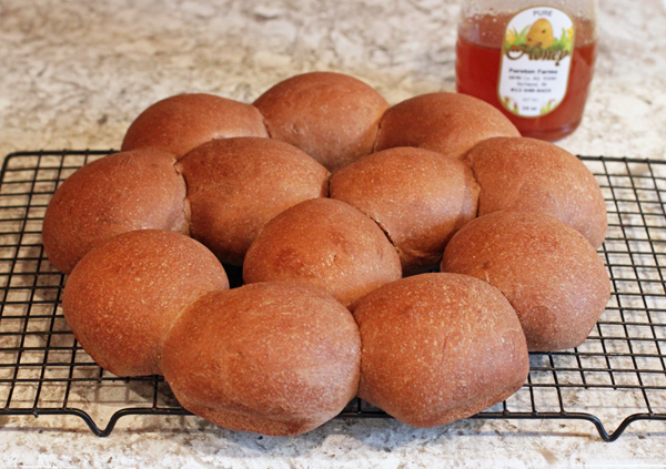 Dark and Soft Restaurant Dinner Rolls