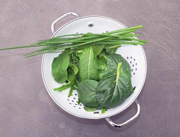 greens for frittata