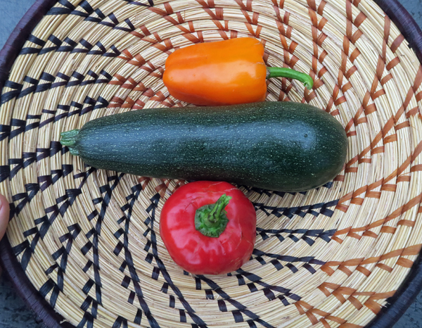zucchini and peppers