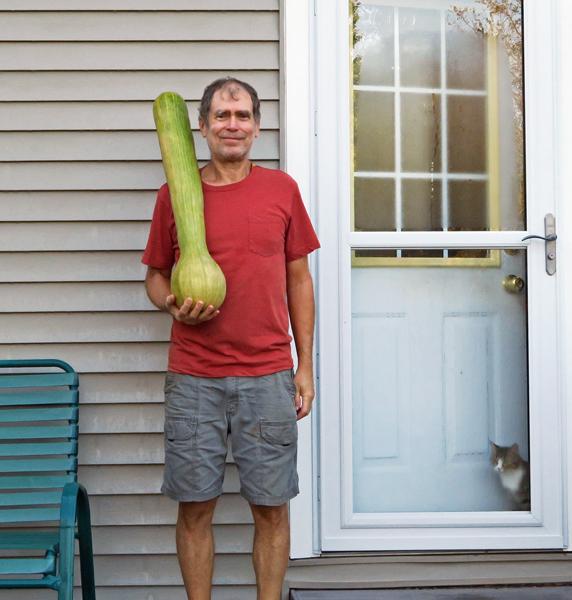 me and the big Turkeyneck squash