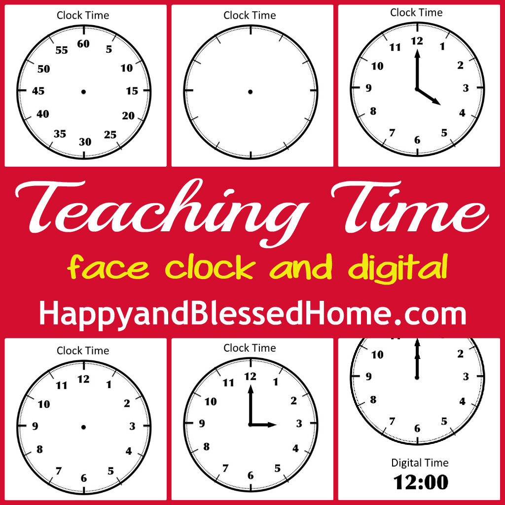 Free Printables To Help Teach Children How To Tell Time