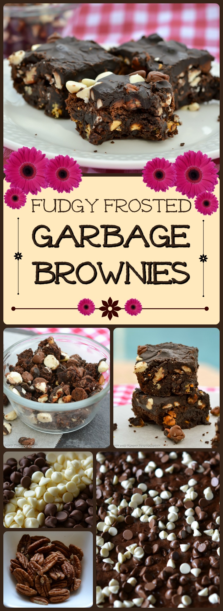 garbage brownies collage