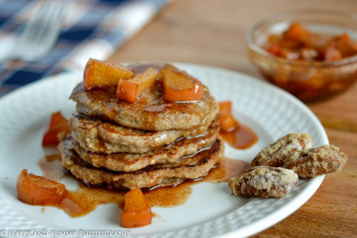 Alexs vegan pancakes with warm cinnamon apples happy and yummy these pancakes are a culinary victory over the cardboard like taste and texture of the recipes she comes across i say recipe because the quantities of ccuart Images
