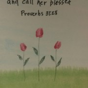Pink Tulips Proverbs 31:28