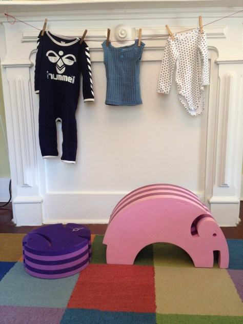Hummel blue onesie, Liebe vest and Holly's white onesie. bObles fish and elephant