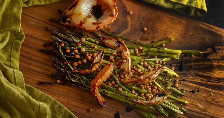 Sweet Pear Roasted Asparagus