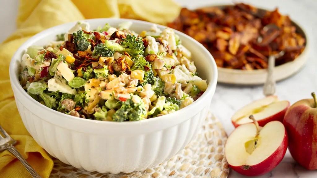 Apple Broccoli Salad with Maple Vinaigrette