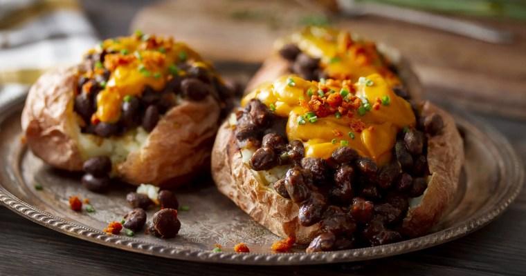 Vegan Cheesy Baked Potato & BBQ Beans