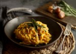 Gluten-free, Dairy-Free and Vegan Butternut and Roasted Garlic Linguine