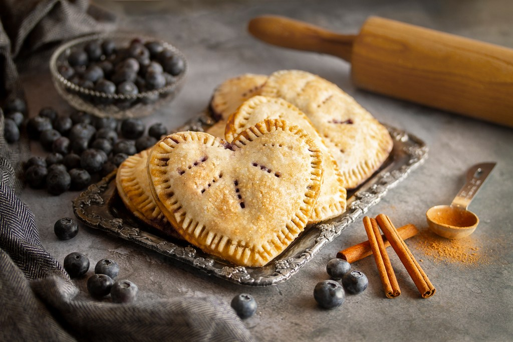 Gluten-free, Dairy Free, Vegan blueberry love tarts
