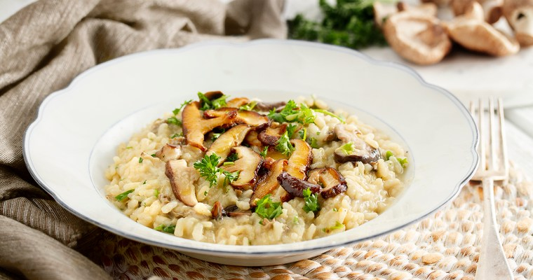 Vegan Three Mushroom Risotto