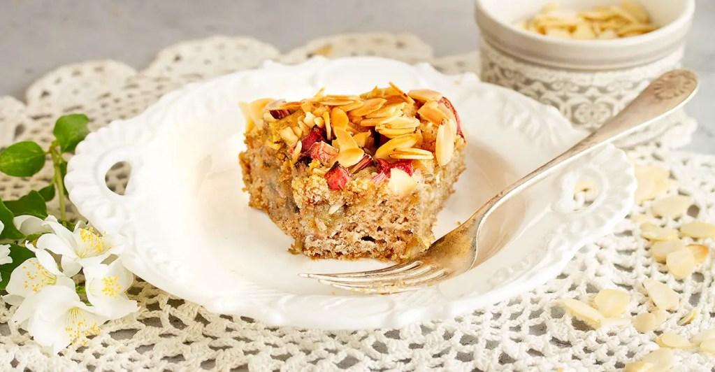 Gluten-Free, Vegan, Dairy-Free - Rhubarb Cake