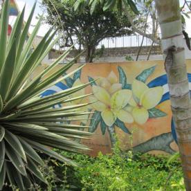 Mural mit Nationalblume Sacuanjoche