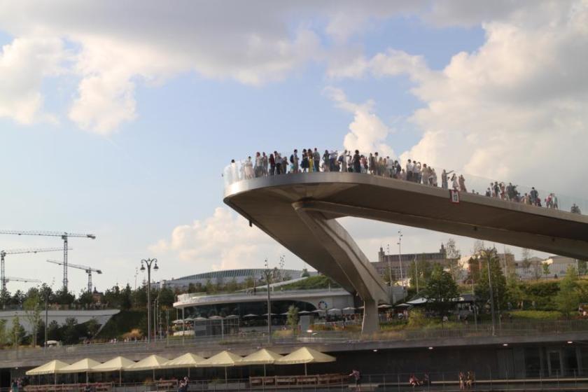 Die Fliegende Brücke in Moskau