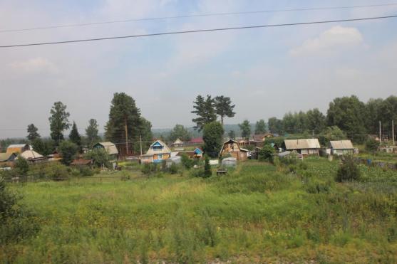 Seltener Anblick von Dörfern auf der Fahrt