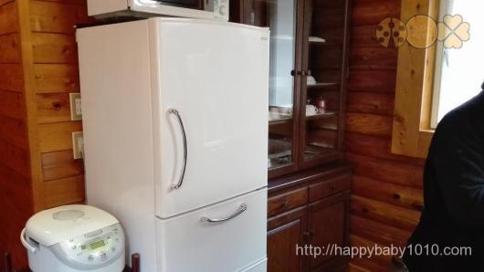 もりのくに 千頭 キャンプ コテージ 冷蔵庫