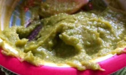 Rezept Süßkartoffel-Erbsen-Brei mit Lachs (Mittagsbrei)