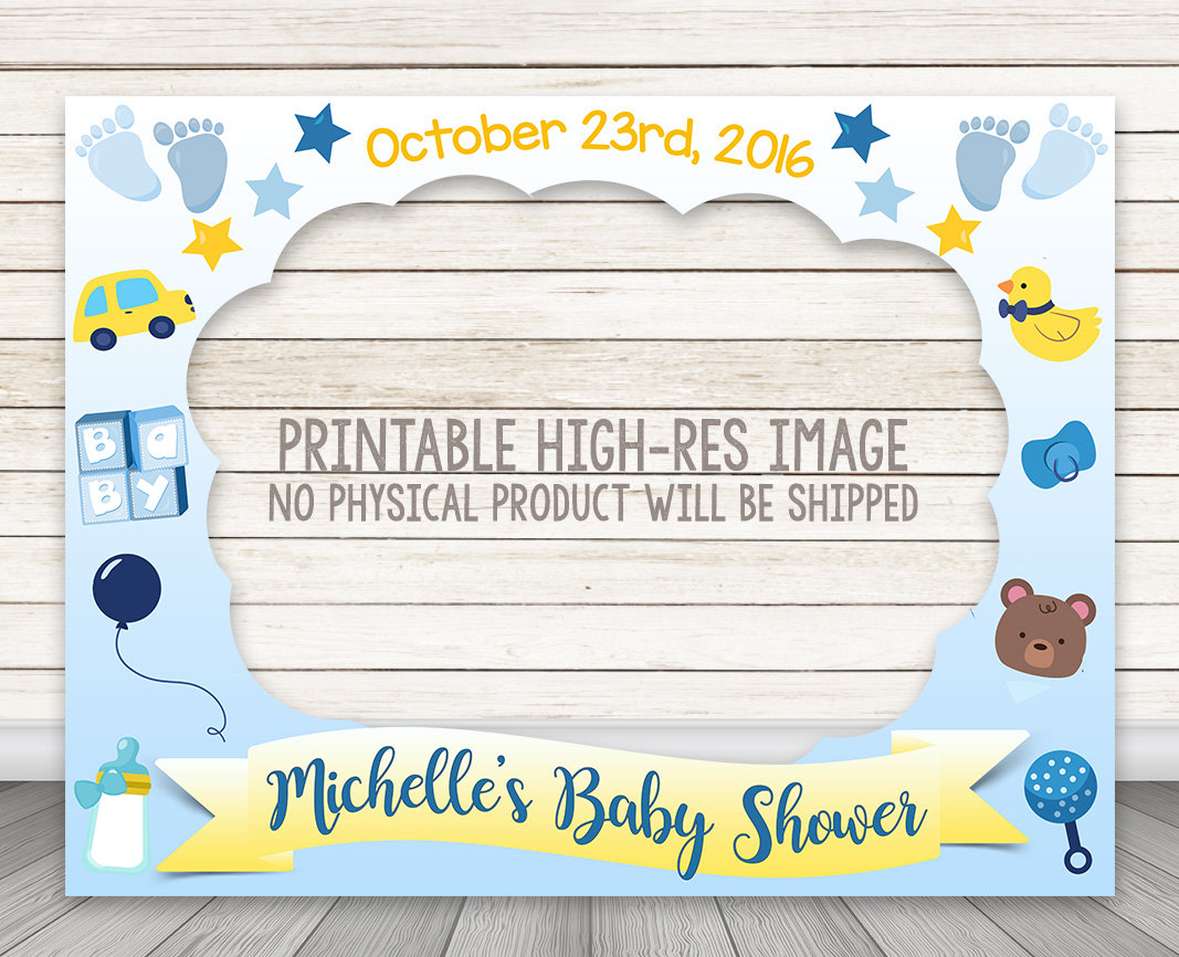 PRINTABLE Boy Baby Shower Photo Booth Frame