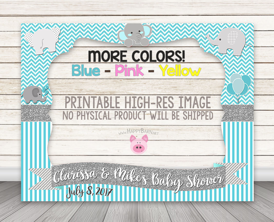 Nice PRINTABLE Elephant Photo Booth Frame, Baby Shower Photo Booth Frame